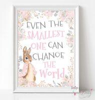 Peter Rabbit Nursery Print - Wall Art - Birthday Christening