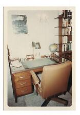 PHOTO COULEUR Intérieur Appartement Maison Bureau Chaise Mappemonde Globe 1966