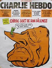 AFFICHE PUBLICITAIRE CHARLIE HEBDO CHIRAC VOTE PRIMAIRE MEILLEURE TETE DE VEAU