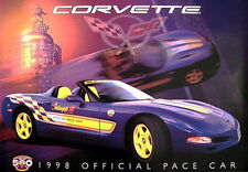 "1998 Chevy Corvette C5 Pace Car Dealer Poster Indy 500 24"" X 36"""