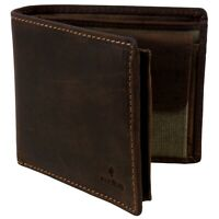Quality Khaki Canvas and Leather Stylish RFID Protected Wallet by Cactus