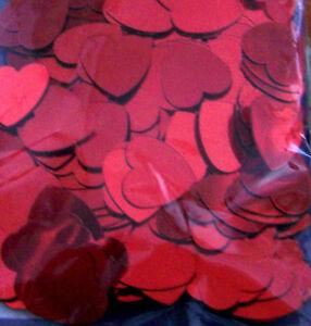 100 Pièce Confettis Cœur Valentin Saint Amour Décoration de Table