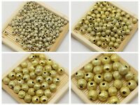 Craft DIY Gold Stardust Acrylic Round Beads Jewelry Spacer 4mm 6mm 8mm 10mm