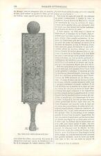 Rape à Tabac Grivoise en Bois Sculpté / Vollichon & son Fils Toinon GRAVURE 1887