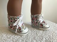 "18"" Inch Floral Doll Shoes Boots American Girl Our Generation"