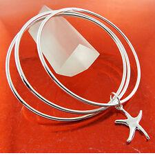 S/F Four Leaf Glover Xl Bracelet Anklet New listing Fsa778 Genuine Real 925 Sterling Silver