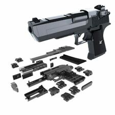 DIY Toy Gun Puzzle Brain Desert Eagle Building Blocks Assembly Model Instruction