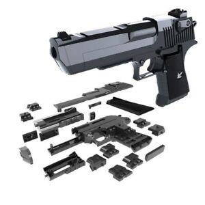 DIY Toy Gun Puzzle Brain Desert Eagle Building Blocks Assembly Model Instruction