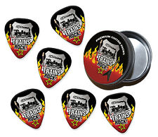 Train Trains Rock 6 X Guitar Picks Plectrums In Tin (R1)