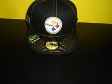 Pittsburgh Steelers New Era 59FIFTY Established Collection FItted Hat NEW