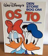 """Walt Disney's Donald Duck """"Den store bog om os to"""" 1983 Dänisch 158 Seiten"""