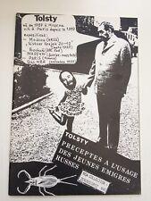 Tolsty préceptes à l'usage des jeunes émigres russes livre d'artiste 1981 Blaine