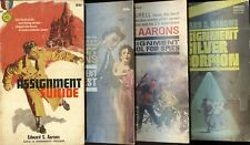 4 'Sam Durell Assignment' thrillers by EDWARD S. AARONS - 3 PB 1sts