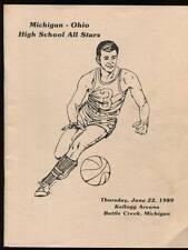 High School Basketball Program Michigan 1989 Ohio All Stars Jim Jackson Michael