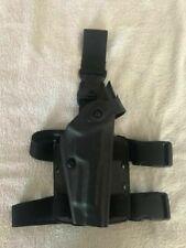 Black Safariland Beretta 92 Level 3 Retention Drop Leg Thigh Pistol Holster L1 for sale online