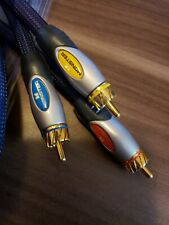 Monster Video/Audio Cable 6 feet blue braided w/gold plated connections