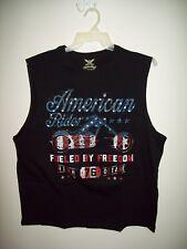 American Ride Fueled by Freedom Black Sleeveless Shirt XLarge