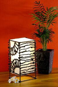 Wood Lamp Rustic Light Bedside Lamp Bali Coconut Sailing Canvas