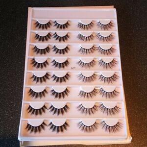 False lashes look book 16 pairs of eye lashes 2 lash styles