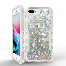 For iPhone XR Xs Max 6 7 8 Plus X Glitter Liquid Defender Heavy Duty Case Cover