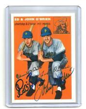 1954 topps ARCHIVES gold AUTO/signed CARD/set #139 ED/john O'BRIEN pirates NCAA