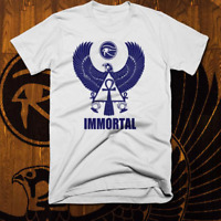 Egyptian T-Shirt Ancient Egypt Hieroglyphics Kemetic Falcon God Immortal