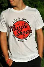 Size 3XL -  T-SHIRT Life is Great - Muscle Shoals Music Makes it Better - NEW