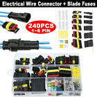 43 Set 708Pcs Waterproof Car Auto Electrical Wire Connector Plug Kit 1-6 Pin Way