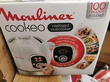 Moulinex CE704110 Cookeo Multikocher (800W, französische Version) weiß/chrom