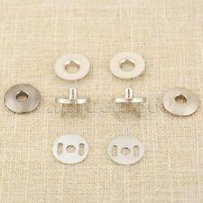 17mm Magnetischer Durchknopf Geldbeutel Tasche Druckknopf Silber/Schwarz Basteln