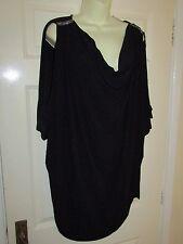 BNWT BLACK COWL NECK JEWEL DETAIL TOP - PLUS Size 26