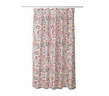 "IKEA shower curtain 71""x71"" multicolor floral water-repellent bathroom AKERKULLA"