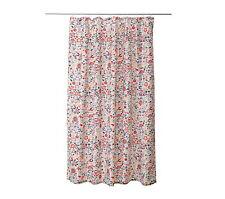 "IKEA shower curtain 71""x71"" multicolor floral water-repellent bathroom AKERKULLA"