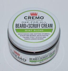 NEW CREMO ONE FOR ALL BEARD SCRUFF CREAM MINT BLEND 4 OZ SOFTENS LONG MOISTURE