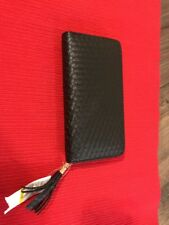 Van Heusen NWT Women's Black Weave Wallet