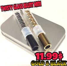 Twisty glass mini Gold Black Extra Glass Tube Include