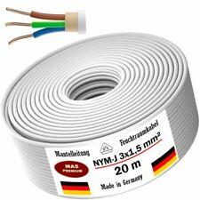 Feuchtraumkabel Stromkabel Mantelleitung 20m NYM-J 3x1,5 mm² Elektrokabel