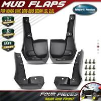 Fit Honda Civic Sedan 2016 - 2019 Rock Mud Flaps Splash Guards Front&Rear Wheel