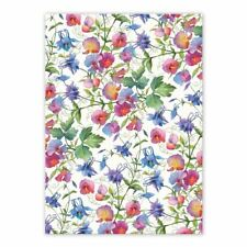 Michel Design Works Cotton Kitchen Tea Towel Sweet Pea Floral - NEW