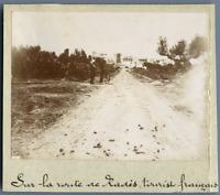 Tunisie, Tourist français sur la route de Radès (رادس) Vintage citrate print. Ph