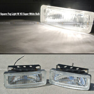 For Sebring 5 x 1.75 Square Clear Driving Fog Light Lamp Kit W/ Switch & Harnes