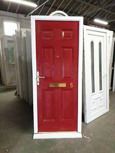 Used Red Composite Front Door 885 X 2120 (0159)