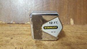 Vintage Stanley AF 12 FT Tape Measure, W 12, Made in Australia, Tru-Zero Hook