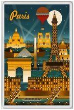 PARIS - JUMBO FRIDGE MAGNET - FRANCE FRENCH EIFFEL NOTRE DAME RIVER SEINE