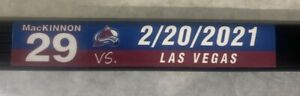 Colorado Avalanche Nathan MacKinnon Game Used Lake Tahoe Outdoor Game Stick
