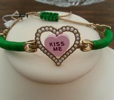 Betsey Johnson vintage double heart bracelet