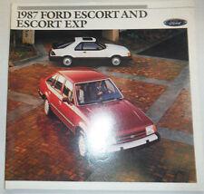 Ford Escort And Escort Exp Catalog 1987 122614R