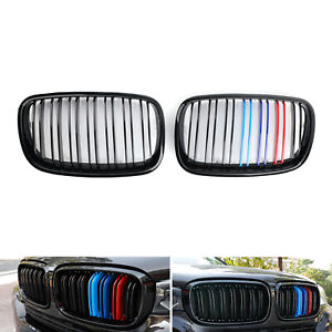 Front M-Color Kidney Grille Car Grills For BMW E70 X5 2007-13 E71 X6 08-13