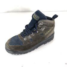 LL Bean Merrell Boots Womens X659 Hiking Trail Brown Blue Suede SZ 7 M