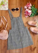 🖤🤍 H&M Divided Ladies Black & White Tartan Pinafore Size 10